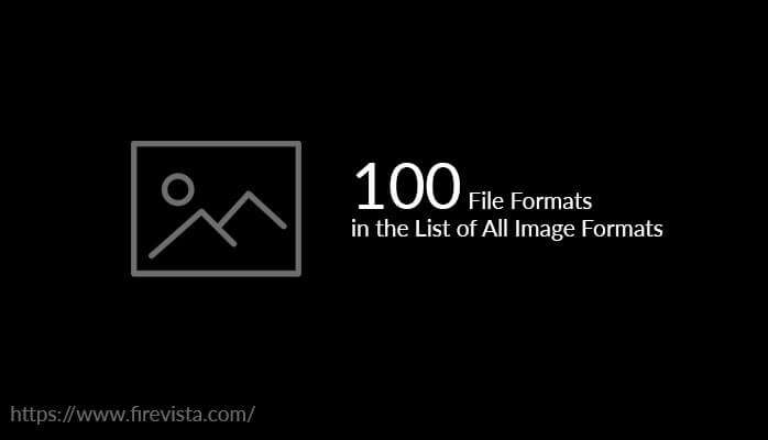 Descriptive List of 100 Image File Formats