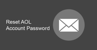 Reset AOL Account Password
