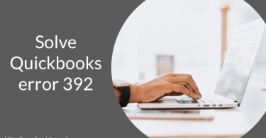 how to solve quickbooks error 392