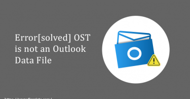 OST is not an outlook data file