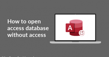open access database files without ms access