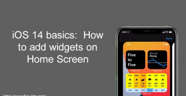 How to add widgets on Home Screen
