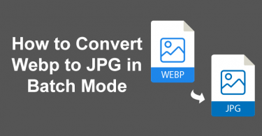 How to Convert WebP to JPG in Batch Mode