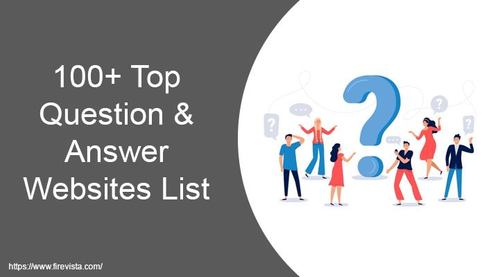 Question & Answer Websites List