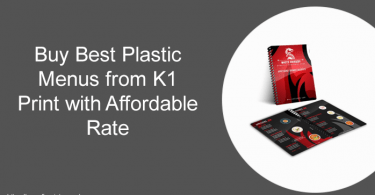 Buy Best Plastic Menus from K1 Print with Affordable Rate