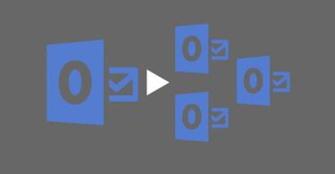 split large outlook pst file into multiple smaller pst files