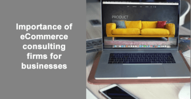 Importance of eCommerce consulting firms for businesses