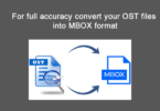 convert your ost files into mbox format