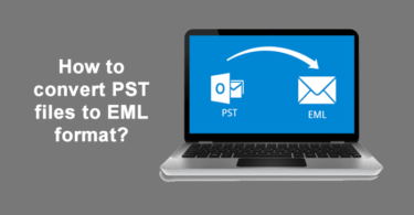 How to convert PST files to EML format